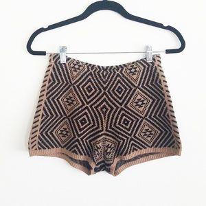 UO Staring at Stars Knit High Waist Shorts